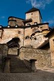 Castle Oravsky Podzamok. In Slovakia stock photography