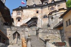 Castle Oravsky Podzamok,Slovakia. Inside the castle Oravsky Podzamok in Slovakia royalty free stock image