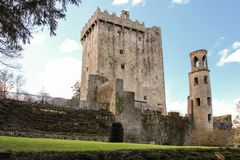 Blarney castle. co. Cork . Ireland. The castle originally dates from before 1200. At the top of the castle lies the Stone of Eloquence, better known as the Stock Photo