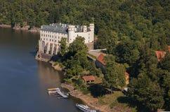 Castle Orlik under Orlik dam, Czech Republic Royalty Free Stock Image