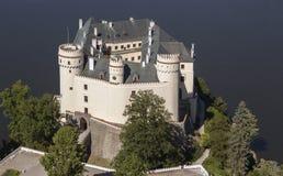Castle Orlik under Orlik dam, Czech Republic Stock Image
