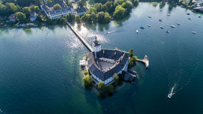 Castle Ort, Gmunden, aerial view Stock Photos