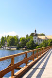 Castle Orth at lake Traunsee, Austria Royalty Free Stock Image