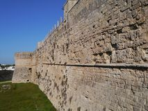 The castle of Otranto in Italy Stock Photos
