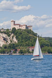 Castle over the Maggiore Lake Royalty Free Stock Photography