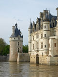 Castle over the river. Loire Royalty Free Stock Photography