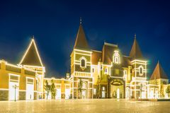 Castle over sea in Nha Trang - Vietnam Landscape stock images