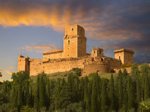 Castle overlooking Assisi, Italy Stock Photos
