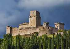 Castle overlooking Assisi, Italy Stock Photography