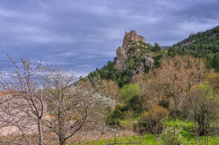 Castle Padern in France Royalty Free Stock Photos
