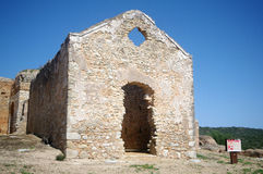Castle of Padernes church Stock Photo