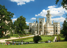 Castle (palace) At The Hluboka Nad Vltavou. Stock Photography