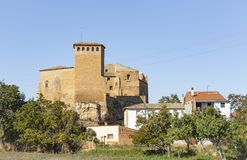 The castle palace in Cetina town. Province of Zaragoza, Aragon, Spain royalty free stock image