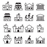 Castle & palace icon set 2 Royalty Free Stock Photography