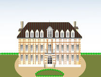 Castle,palace,  illustration Royalty Free Stock Image