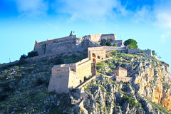 Castle of Palamidi. View of the castle of Palamidi, Nafplion - Greece stock images