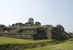 Castle at Palenque Ruins, Mexico. Mayan Castle showing the stairs at Palenqe Ruins in Chiapas, Mexico stock photos