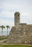 Castle and palm tree Royalty Free Stock Photo