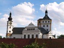 Castle in Pardubice. White palace in Pardubice, CZ Stock Photos