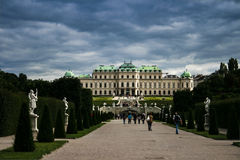 Castle Park in Belvedere palace Royalty Free Stock Photo