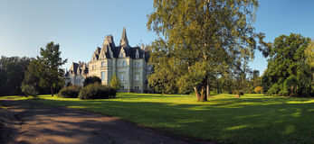 Castle and park in Budmerice Stock Images