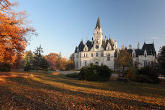Castle and park in Budmerice - Autumn view Stock Photos