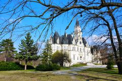 Castle and park in Budmerice, Slovakia Stock Photo
