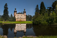 Castle in the park royalty free stock photo