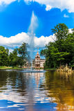 Castle Park Phillipsruhe with lake in Hanau, Germany Stock Images