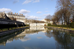 Castle park and pond in Saint-Cloud - France Stock Photos