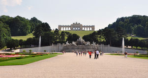 Castle park Schonbrunn, Vienna, Austria, Europe Stock Photography