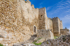 Castle of Patras on Peloponnese in Greece Stock Images