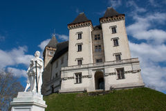 Castle of Pau. View of the castle of Pau in France Stock Image
