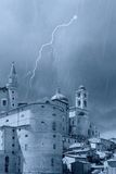 Castle with peaks in Urbino Stock Photos