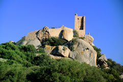 Castle of Pedres. View of the famous Pedres Castle in Olbia, dating to aragonese period Stock Photography