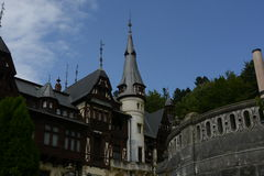 Castle Peles. Another view,Peles castle in Sinaia city Romania Stock Photography