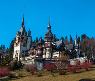Castle peles. Heritage cloud romania Stock Image