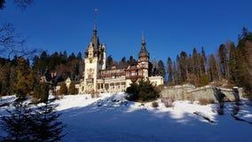 Castle Peles Romania Landscape Building royalty free stock images