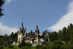 Castle Peles. Peles castle in Sinaia city Romania,wonderful view Royalty Free Stock Image