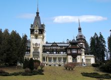Castle Pelesh in Romania. Castle Pelesh of Romania in the Autumn Stock Photography