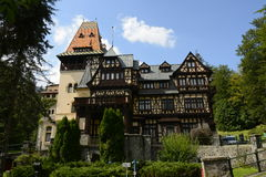 Castle Pelisor. Pelisor castle in Sinaia city Romania Stock Image