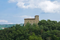 Castle of Pellegrino Parmense. Emilia-Romagna. Royalty Free Stock Photography