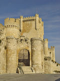 Castle Penafiel, Spain. View of Penafiel Castle, seen from the main entrance Stock Images