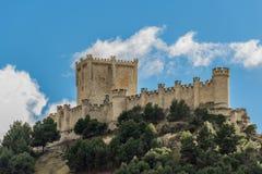 Castle of Penafiel, Spain Stock Image