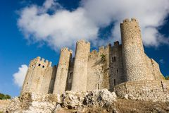 Castle in Perspective. Obidos Castle in Perspective. Obidos, Portugal royalty free stock image