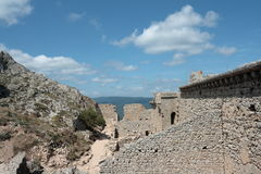 Castle of Peyrepertuse Royalty Free Stock Photo