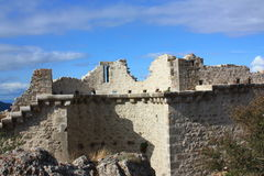 Castle of Peyrepertuse Royalty Free Stock Images