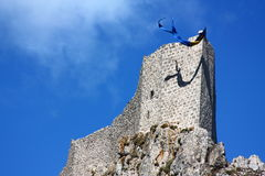 Castle of Peyrepertuse Royalty Free Stock Photo