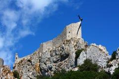 Castle of Peyrepertuse Stock Photo