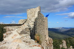Castle of Peyrepertuse Stock Photography